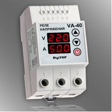 Реле напряжения с контролем тока DigiTOP VA-40